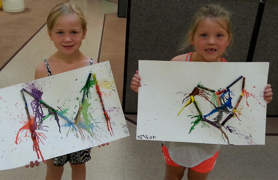 MELTIN' AWAY ART FUN!!
